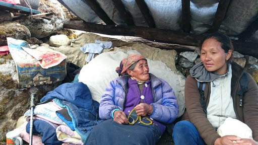 Sherpa women affected by earthquake, Thame, Solu Kumbu, Nepal, May 2015. Photo courtesy of Charok Lama.
