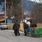 Old school sledges in Bakuriani