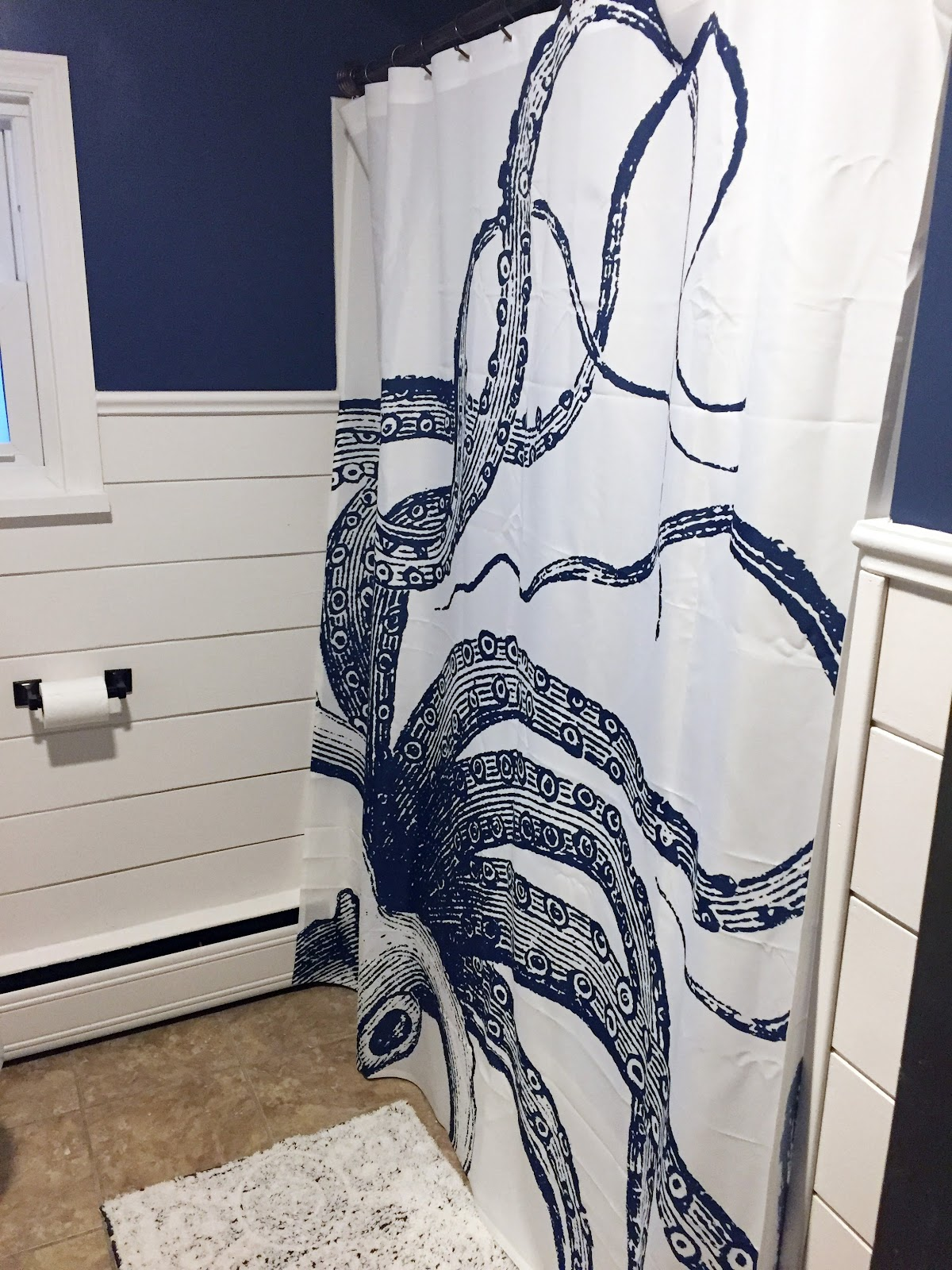 How cool is this squid shower curtain? I got this on Etsy. Link is in post.