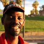 Jesus - damara guy selling souvenirs
