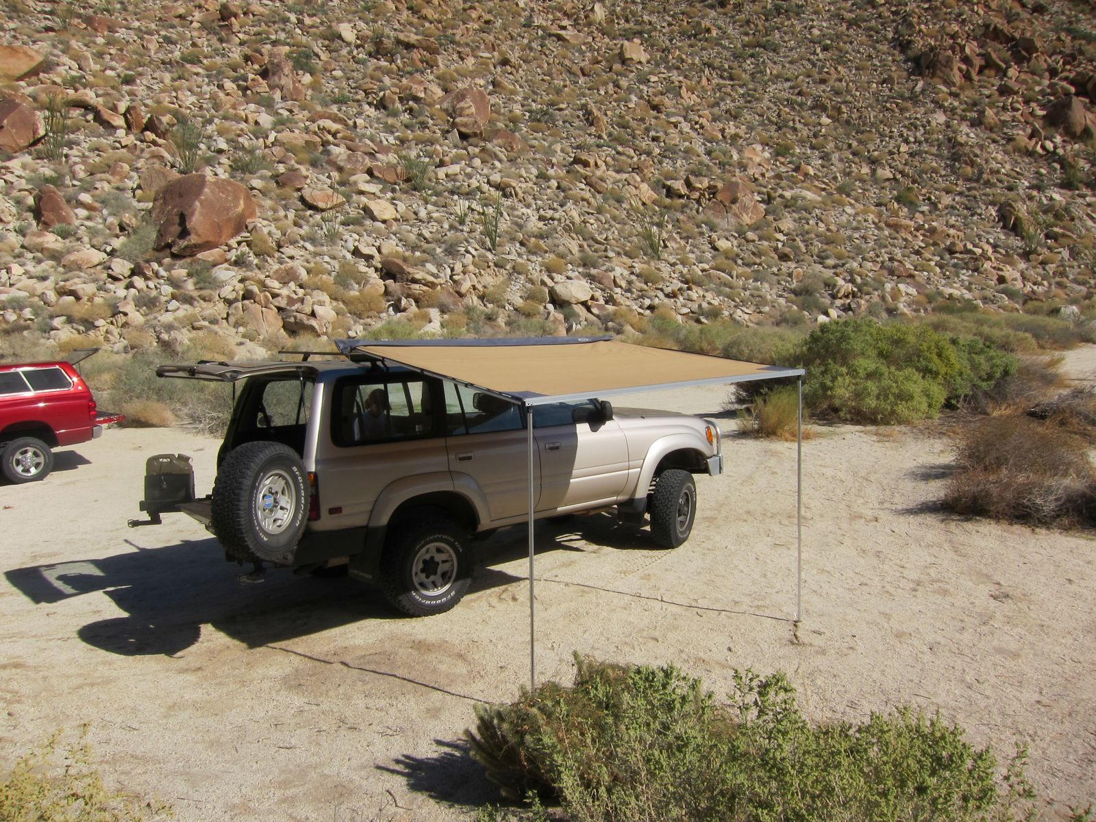Testing out the new ARB Awning. This accessory was made for the desert :-)