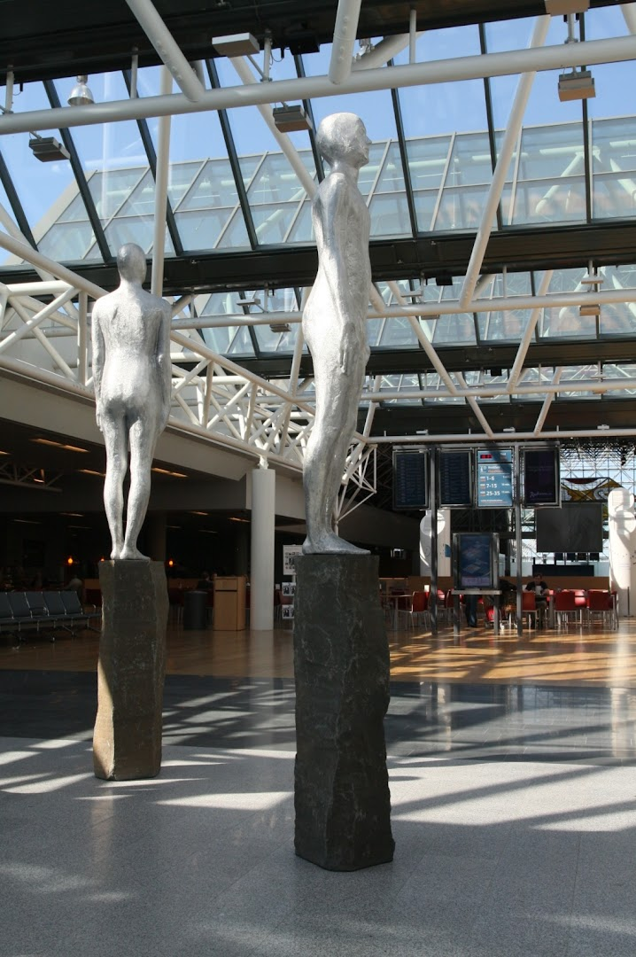 Figures greeting us at the Keflavik Int. Airport