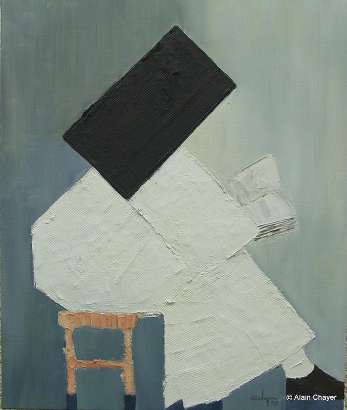 026 - La Bernardine - 1993   61 x 50 - Acrylique sur toile