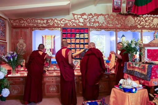 Lama Zopa Rinpoche at Mahamudra Centre, New Zealand, May 2015. Photo by Ven. Thubten Kunsang.