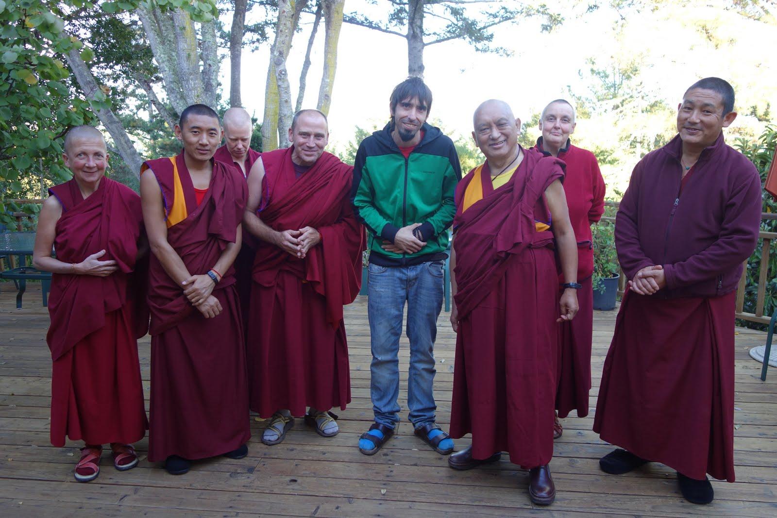 Tenzin Ösel and Sangha at Lama Zopa Rinpoche's Aptos House, California. October 2013.