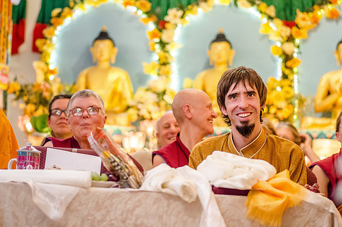 Osel during a Long Life Puja offered to Lama Zopa Rinpoche, September 29, 2013. Land of Medicine Buddha, CA. Photo by Chris Majors.