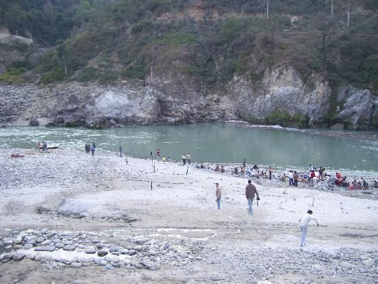 On the banks of the river Satluj at Tattapani