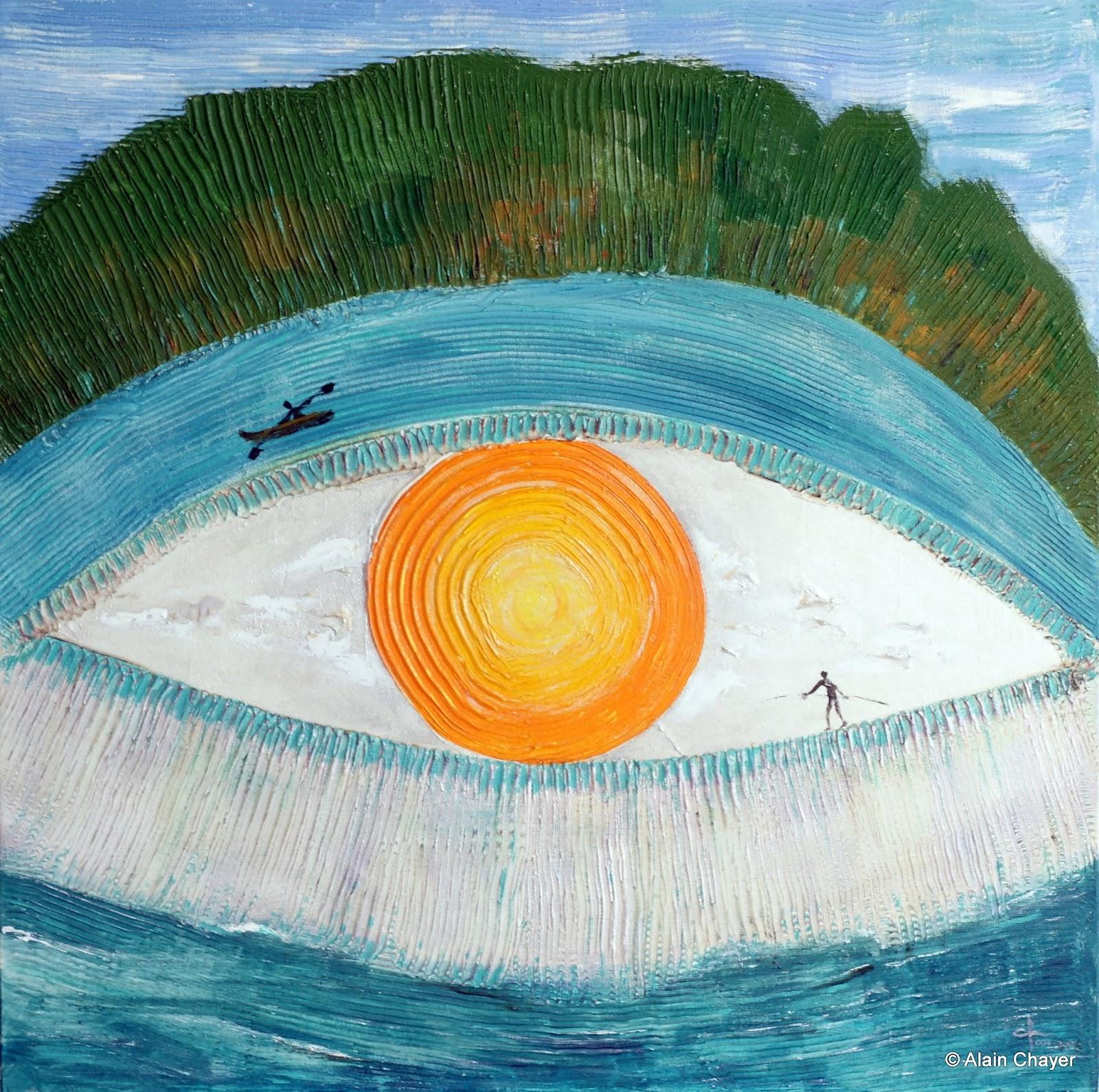 097 - Isola - 2003 80 x 80 - Acrylique sur toile