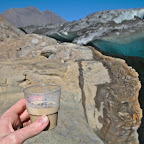 Baily's with 10000 year old ice - perfect end of a glacier trek!