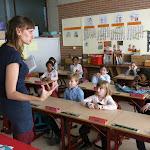 Sabine Clement op bezoek 2de leerjaar (03/15)