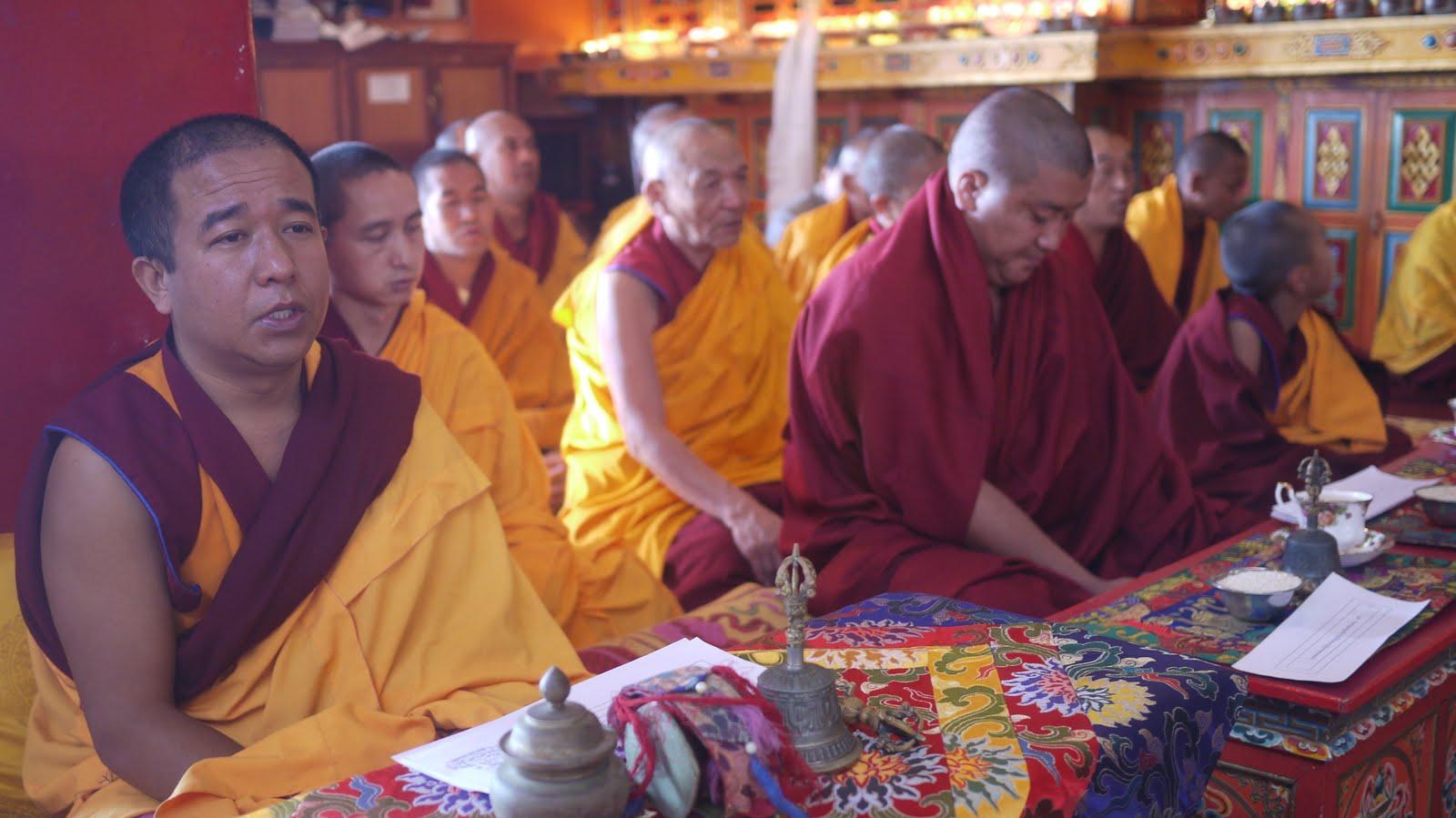 Long life puja at Kopan Monastery Dec 2010.