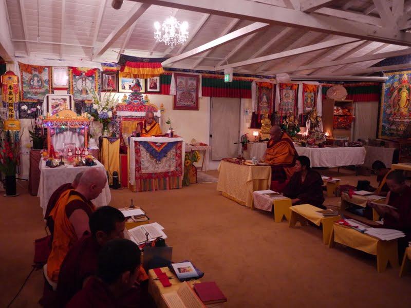 Puja at Land Of Medicine Buddha with Geshe Dhakpa