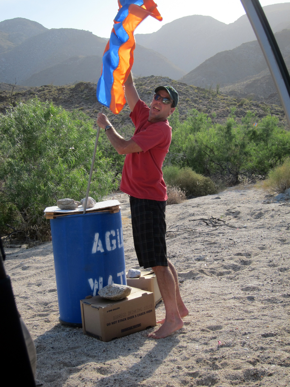Fixing the water drop flag