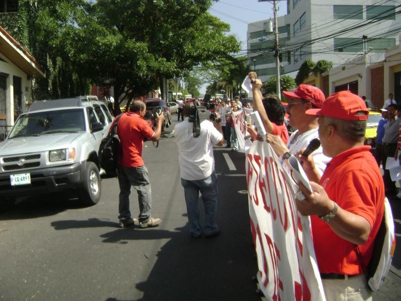 Plantón solidaridad con Honduras