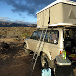 Our well equipped Land Cruiser near Granite Mountain