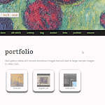 New WordPress responsive child-theme - main portfolio page.