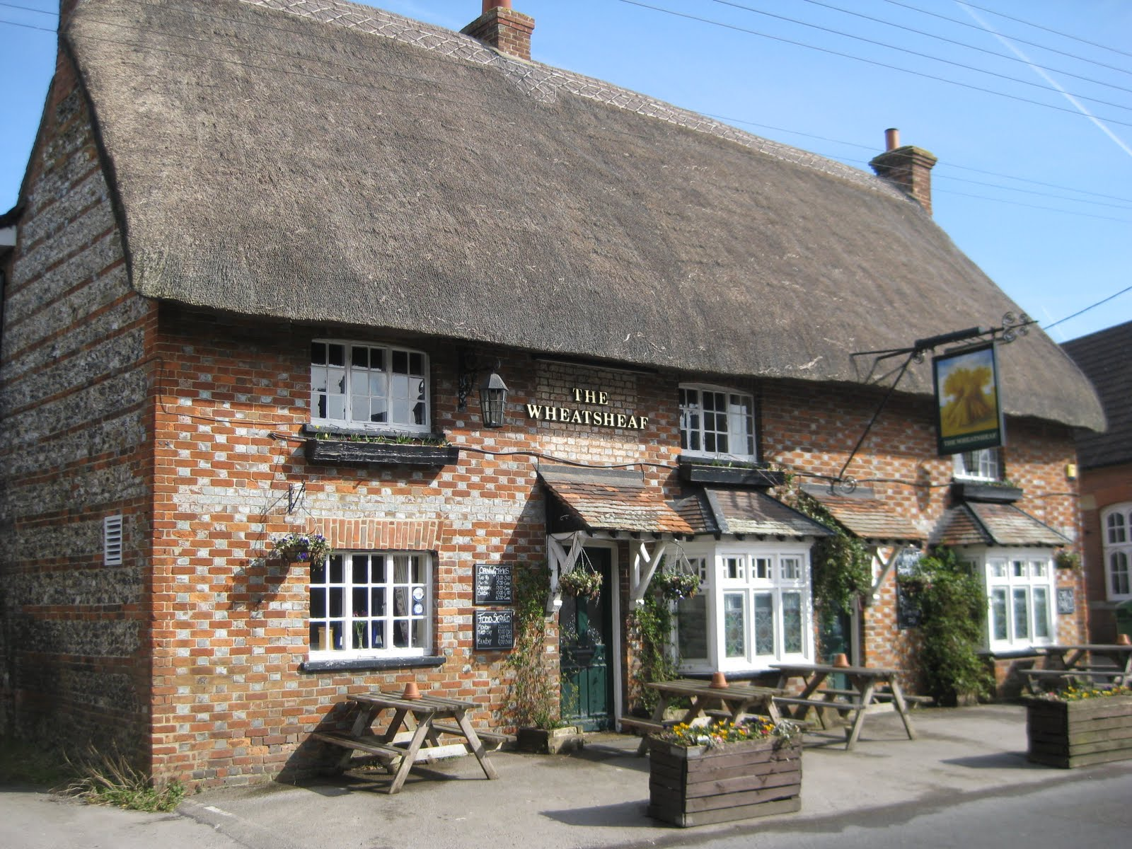 Note that thatched roof