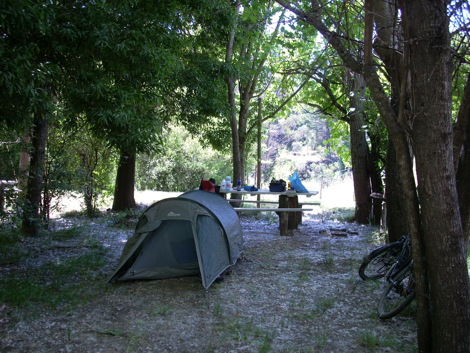 First campsite. I was the only one there. The owner told me that it would be another 3-4 weeks before most tourists showed up.