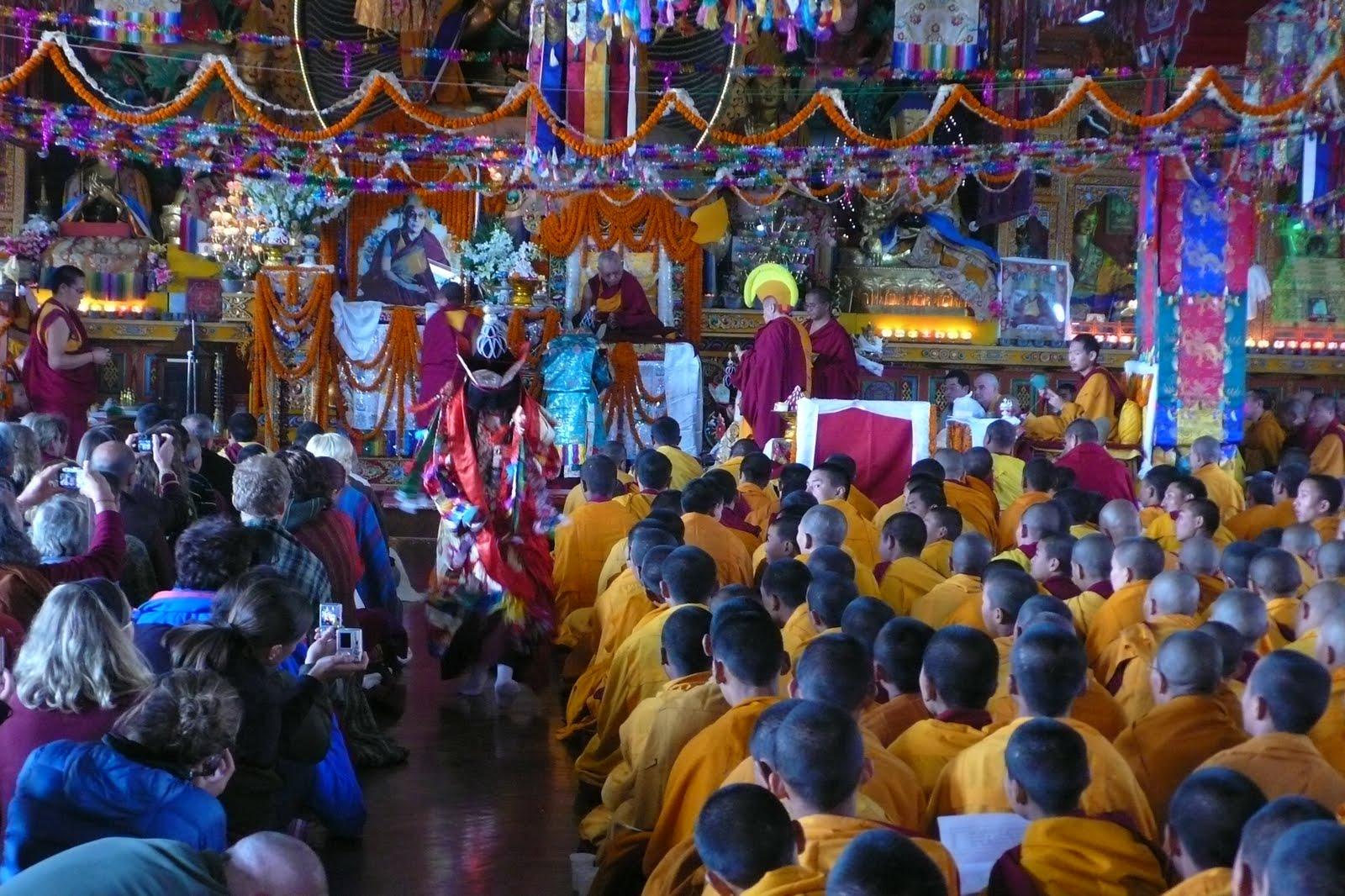 Long life puja at Kopan Monastery, Dec 2009.
