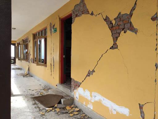 Damage at Kopan Monastery, Nepal, April 2015. Photo by Ven. Sarah Thresher.