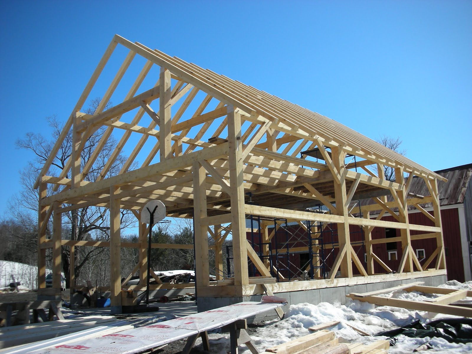 The frame is nearly complete.