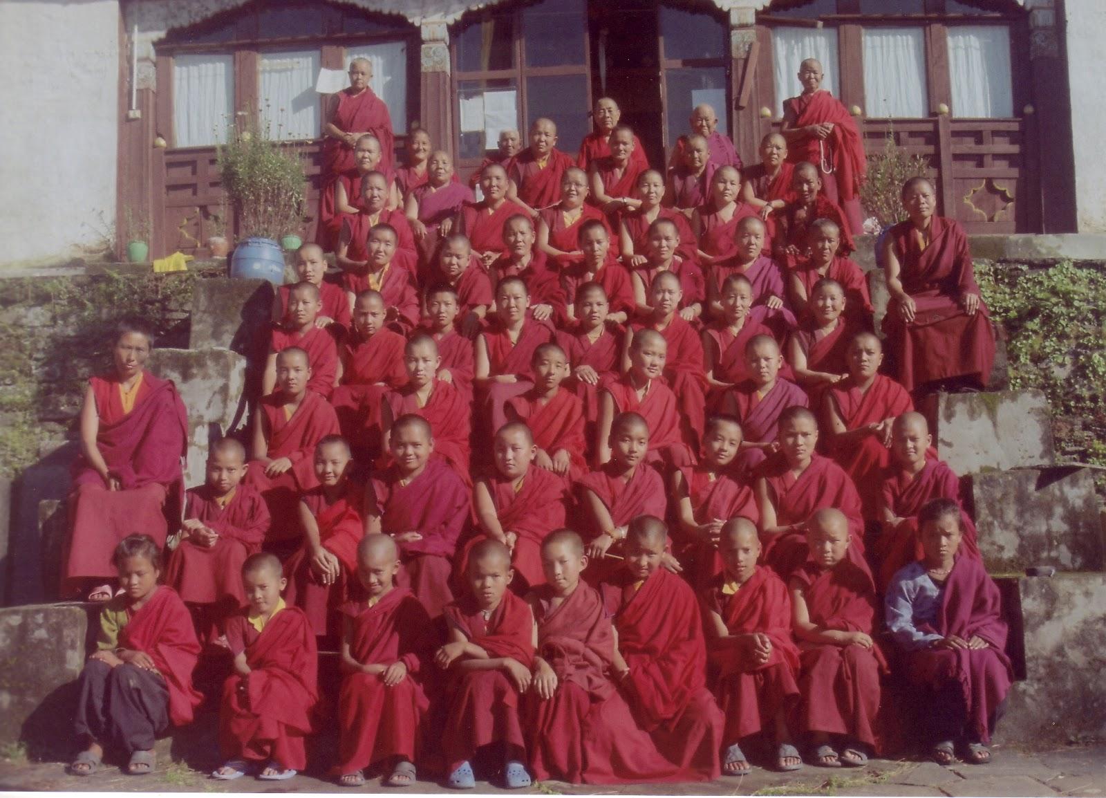 Bigu Nunnery - every year Rinpoche sponors them in 100 million mani retreats