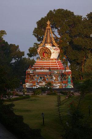 The Great Thousand Buddha Relic Stupa at Kopan Monastery, Nepal.