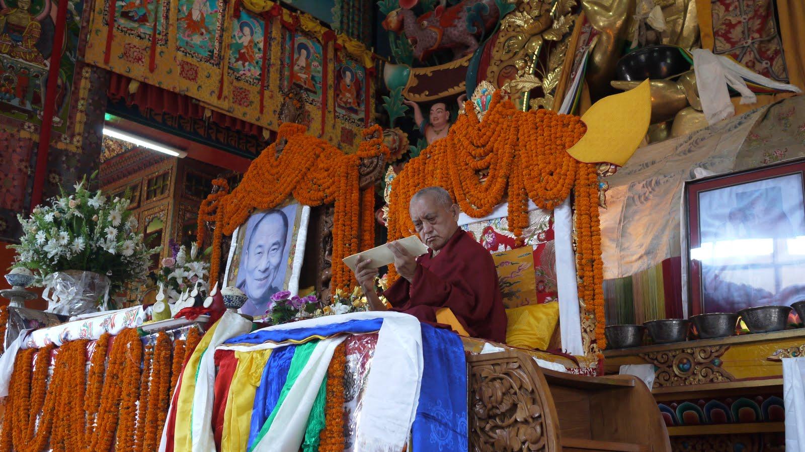 Long life puja at Kopan Monastery, 2010.