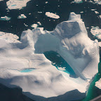 Huge iceberg from the air