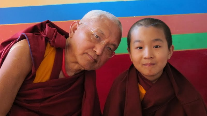 Lama Zopa Rinpoche and incarnation of Domo Geshe Rinpoche