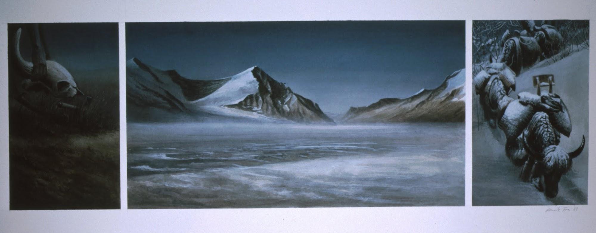 Die kurze Dauer von Spuren   1989   Aquarell   53 x 80 cm