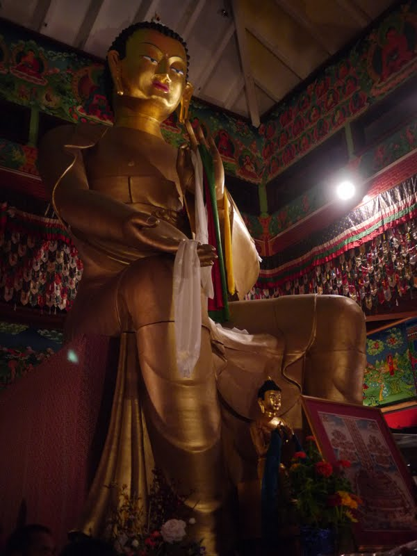 Maitreya Buddha at the Wishfulfilling Temple at Land of Medicine Buddha