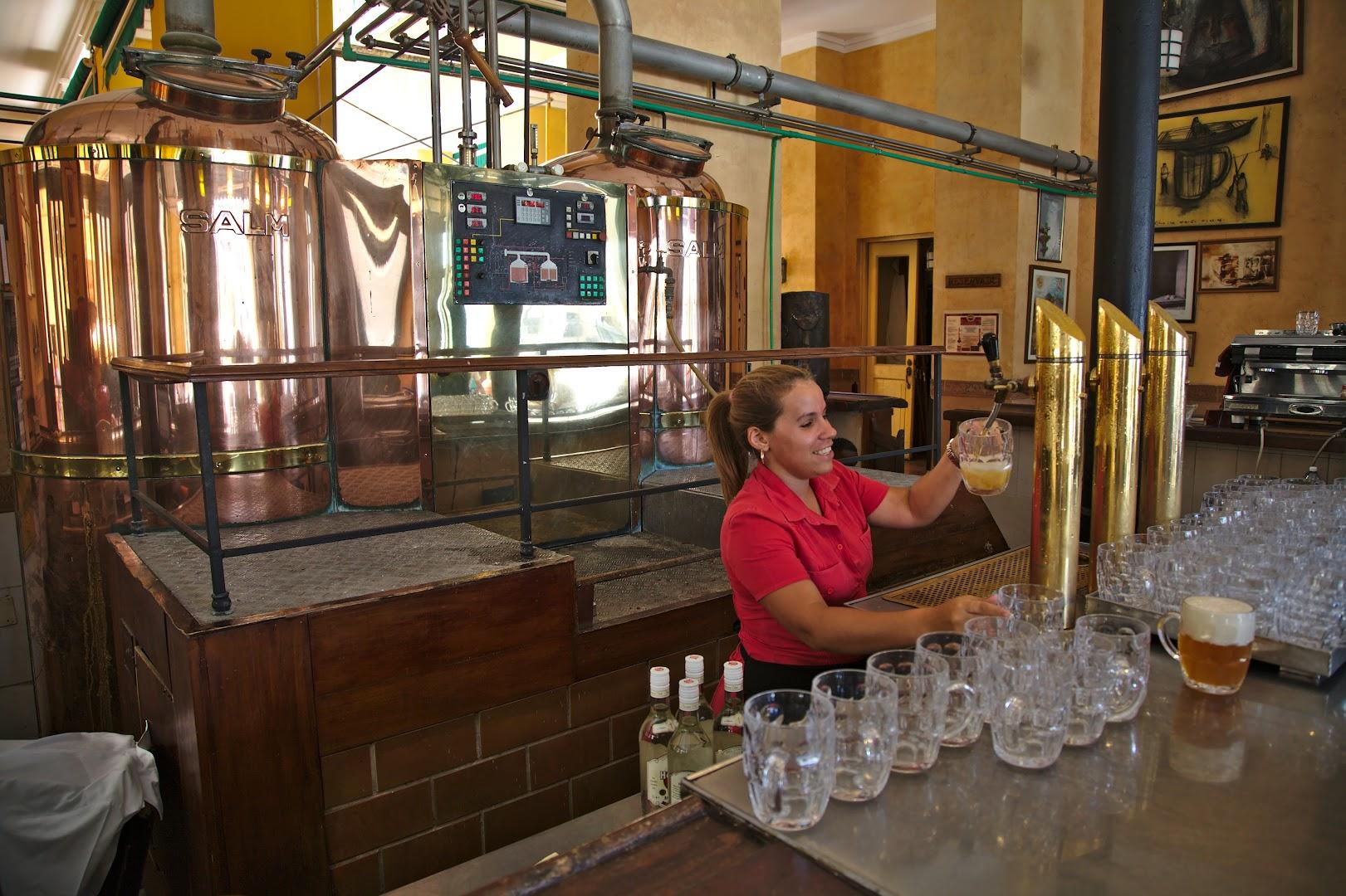 Locally brewed German-style beer
