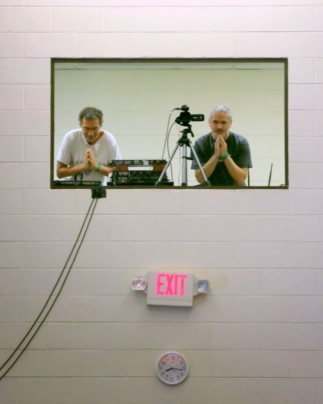 Light of the Path Media Team members Antoine Janssen and Harald Weicharrt, North Carolina, US, May 2014. Photo by Ven. Thuben Kunsang.