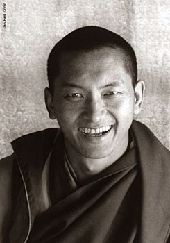 Rinpoche at Kopan 1980  Photo by Clive Arrowsmith