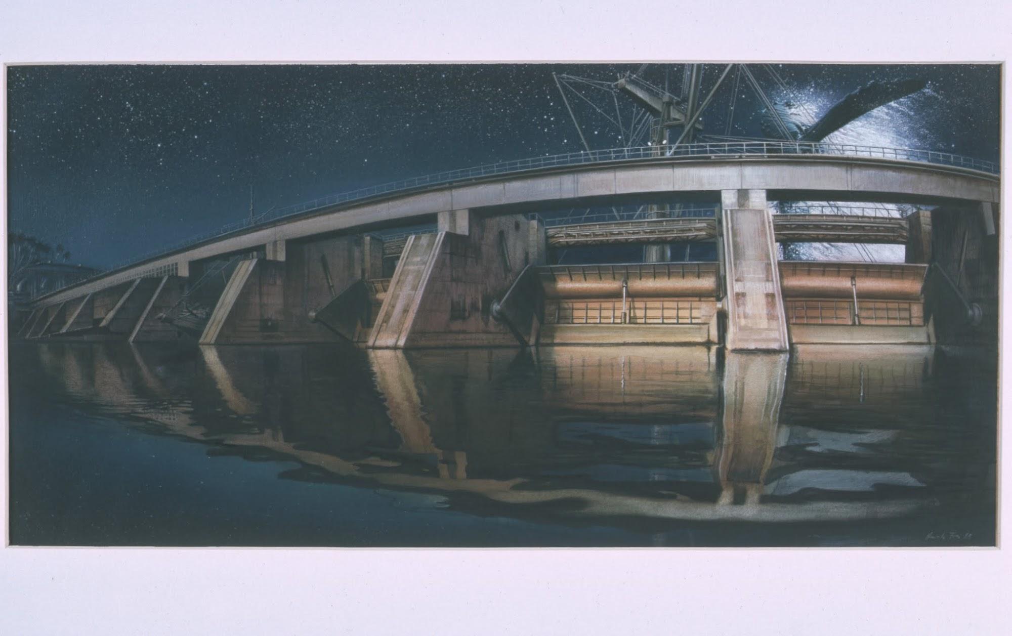 Stille Nacht   1985   Aquarell auf Papier   30 x 60 cm