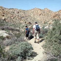 Starting the hike towards Mortero Palms.