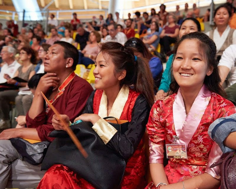 Waiting to hear His Holiness the Dalai Lama at Modigliani Forum in Livorno, Italy, June 15, 2014. Photo by Olivier Adam.