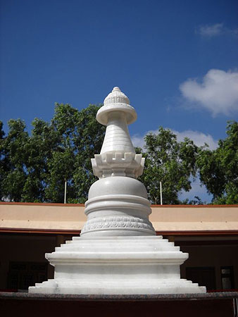 Marble stupa at IMI house in Sera Je Monastery