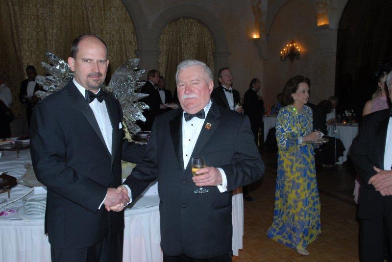 Lech Walesa and Orest Melnyk