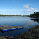 Jezero Skumsjøen (v tom jsem se koupal)