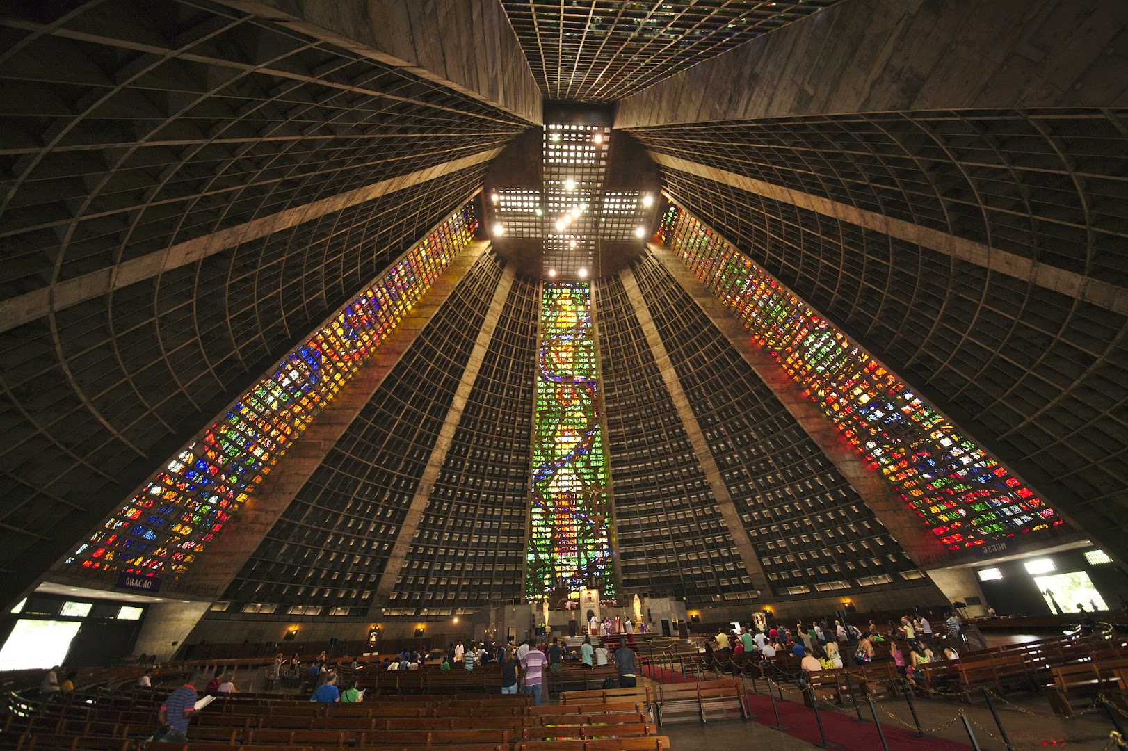 Huge interiors of Rio cathedral
