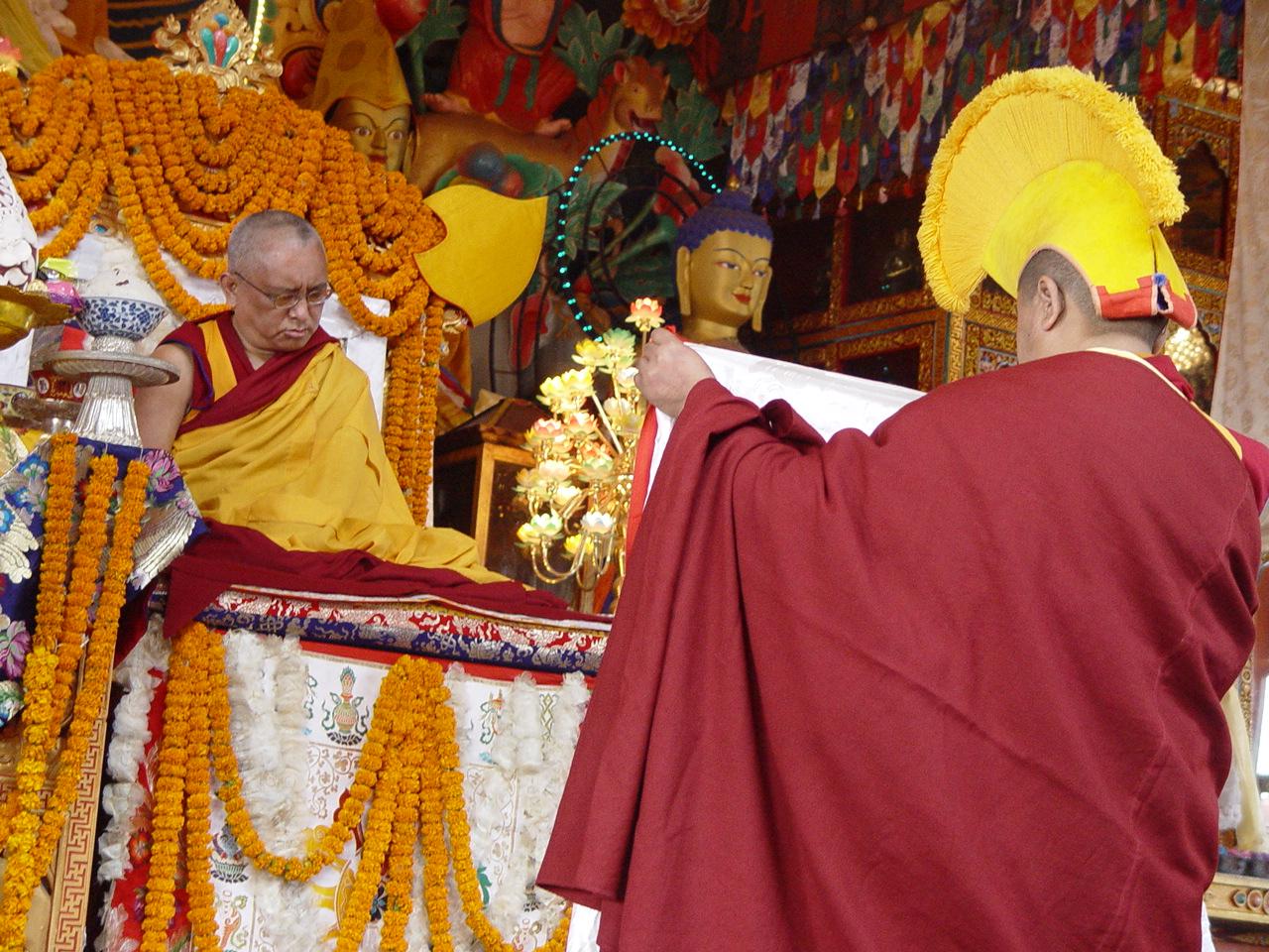Long life puja offered at Kopan Monastery December 2003.