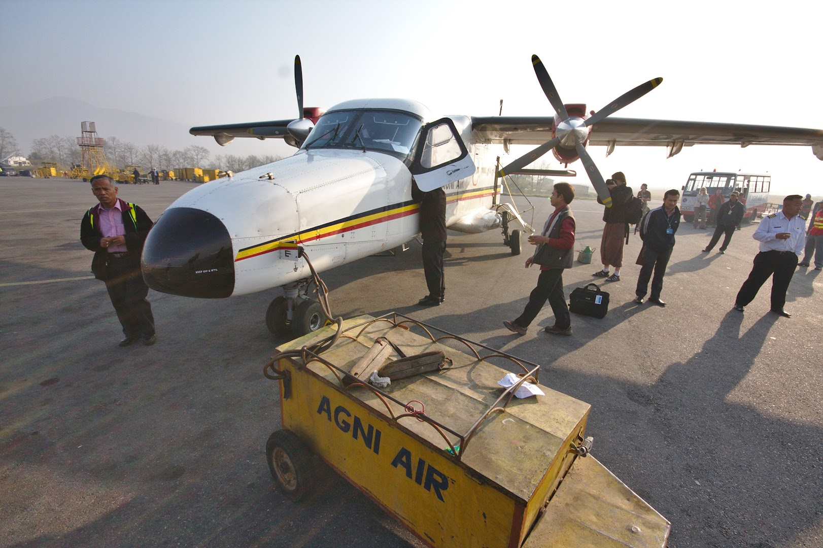 A plane to Lukla, one of these crashes in the mountains every year or something