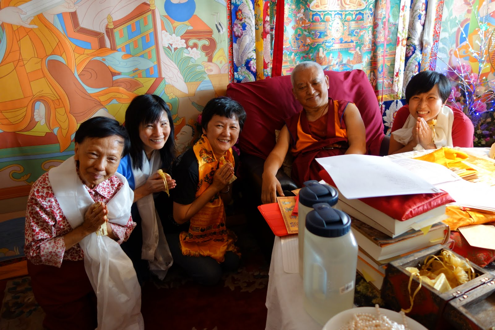 Rinpoche with Dr. Pik Pin/Director and LDC members. May 5, 2013. Photo by Ven. Roger Kunsang