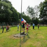 Druhý den - Ranní nástup a vyvěšování vlajky