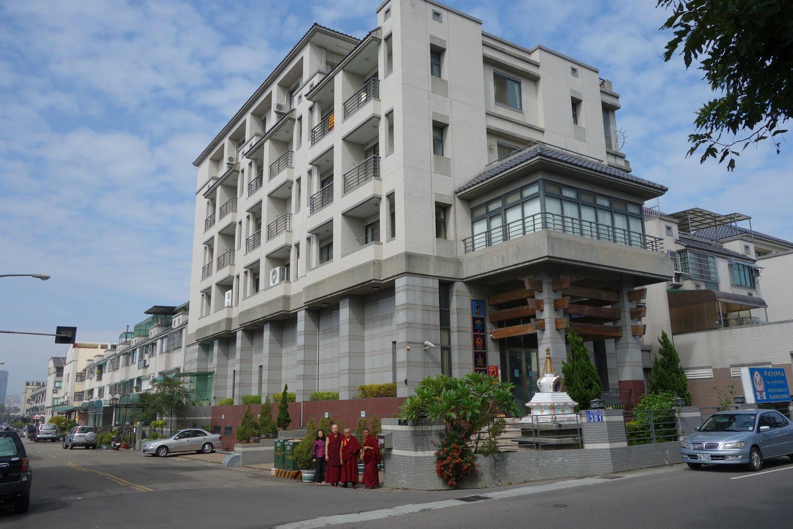 Rinpoche in front of Shakyamuni center