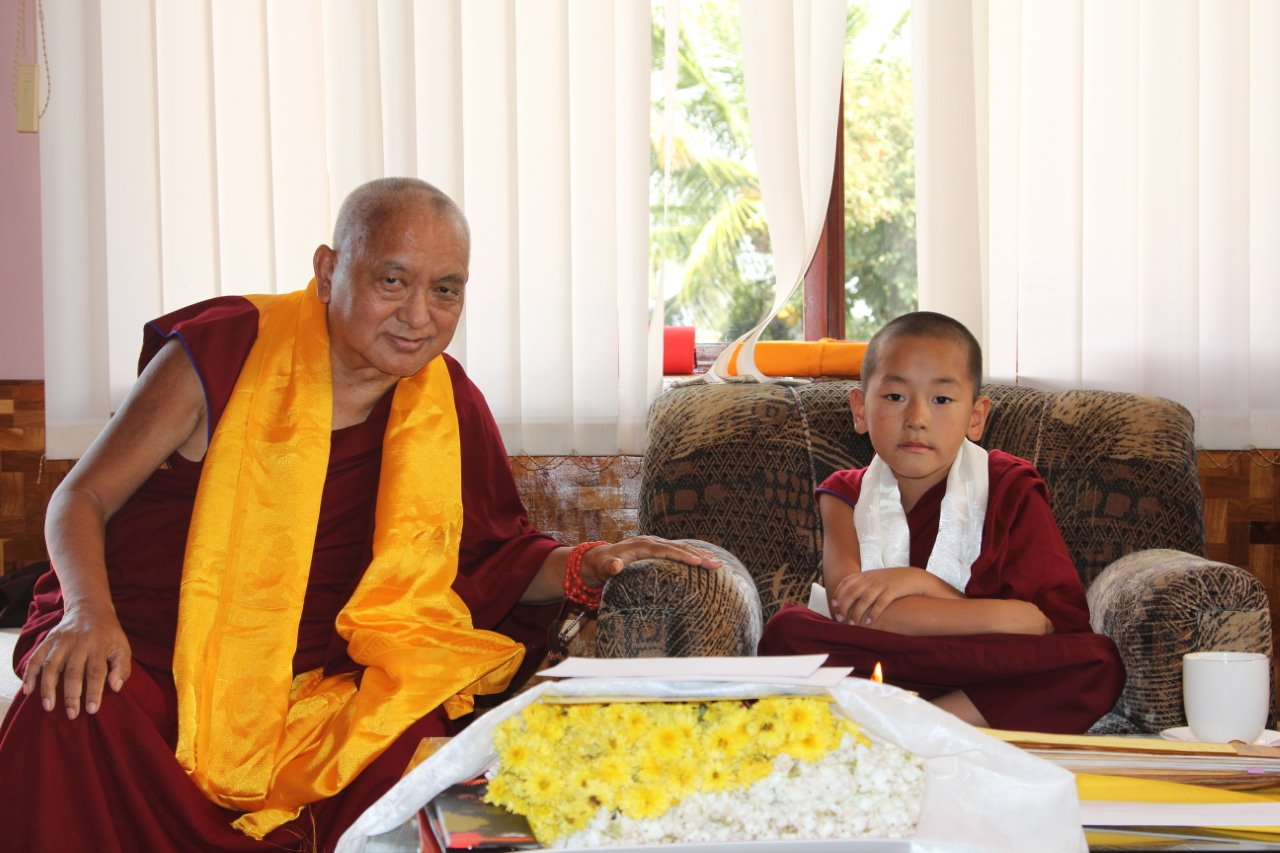 With incarnation of Ribur Rinpoche
