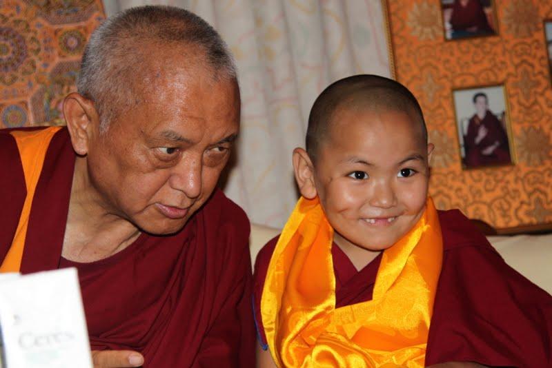 Lama Zopa Rinpoche and Tenzin Phuntsok Rinpoche, Kopan Monastery, Nepal
