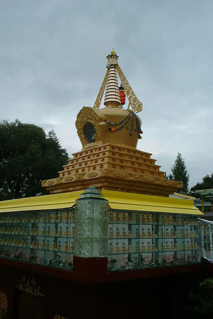 Stupa at Dorje Chang Institute, Auckland, New Zealand